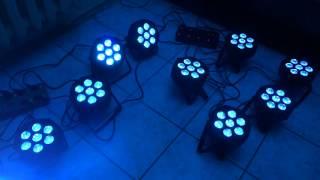 Светодиодный прожектор LED PAR 7*10W(компактный прожектор RGBWA 7х10Вт - светодиоды RGBWA 5-в-1 - плавное смешивание цветов RGBWA - управление DMX512 (9 канало..., 2015-10-05T09:00:47.000Z)