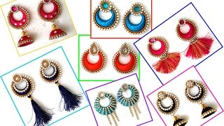 How to make silk thread Chandbali Tassel & Chandbali Jhumkas earrings in festive