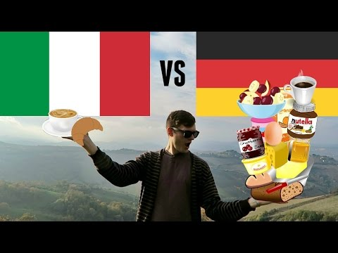 ITALY VS GERMANY: BREAKFAST 🇮🇹 Colazione 🇩🇪 Frühstück