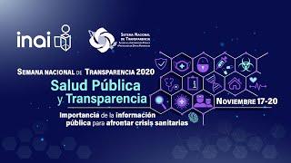 CEREMONIA DE INAUGURACIÓN DE LA SEMANA NACIONAL DE TRANSPARENCIA 2020