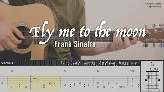 Frank Sinatra - Fly me to the moon | Fingerstyle Guitar | TAB tutorial + Chords + Lyrics
