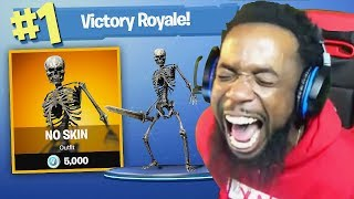NO SKIN AT ALL CHALLENGE! Fortnite Battle Royale Funny Moments!