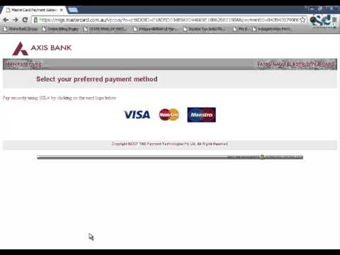 Electricity Bill Payment Using State Bank Debit Card