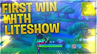 OMG SICK FIRST WIN WITH Liteshow SKIN // FORTNITE BATTLE ROYALE