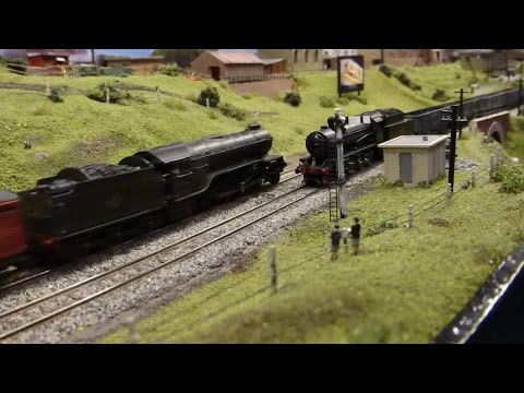 Lincoln model railway exhibition 2016 part 1 the N gauge layouts