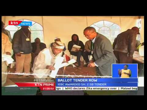 KTN Prime: IEBC Ballot paper tendering process stalemate to be decided tomorrow, 22/11/16