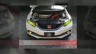 Rtint® Honda Civic Sedan Headlight Tints   Civic Headlight Covers