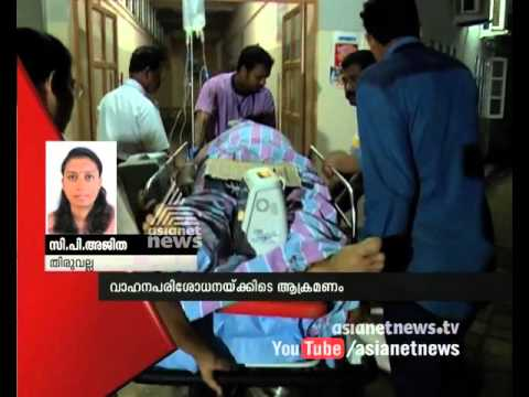 Vehicle hit and run Tiruvalla C I while vehicle checking | FIR 14 Dec 2015