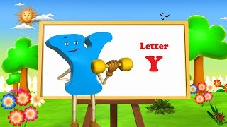 letter y song 3d animation learning english alphabet abc song for children