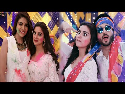 """Kundali Bhagya"" Tv Serial Actors : Latest Off Screen Masti At Holi Celebration"