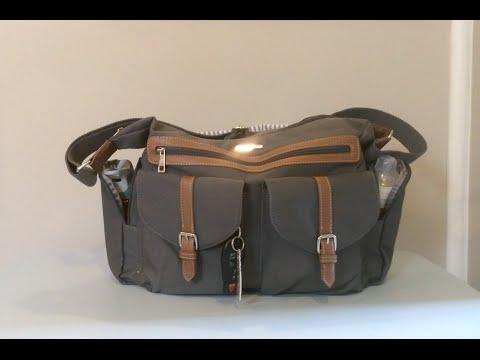 Little Unicorn Diaper Bag: Rambler Satchel-Grey Packing Video