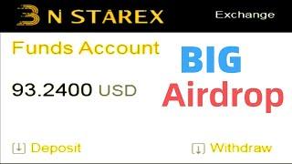 NSTAREX Digital Exchange Airdrop 93.24 USD Instant Received    BUXCOIN UPDATES