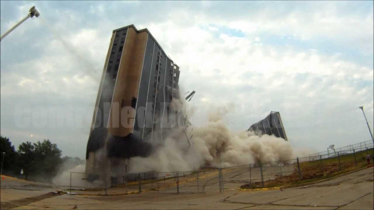 Wetzel Hall @ Western Illinois University   Controlled Demolition, Inc.    YouTube Part 70
