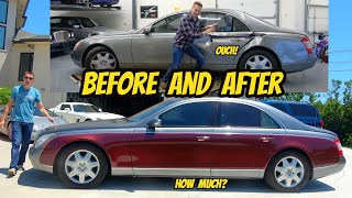 homepage tile video photo for Fixing my wrecked Maybach cost WAY MORE than I thought
