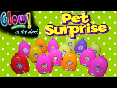14 Pet Surprise GLOW IN DARK Puppies and Kittens