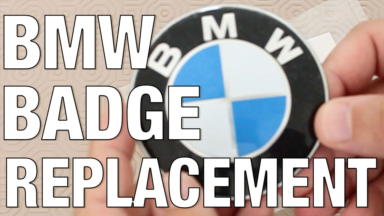 Bmw Badge Roundel Emblem Replacement Easy Way Youtube