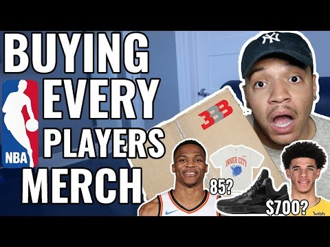 Buying EVERY NBA Players Merch!! (Lonzo Ball, Steph Curry, Russell Westbrook & MORE)