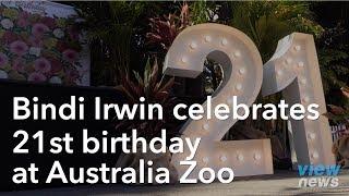 Bindi Irwin celebrates her 21st birthday at Australia Zoo