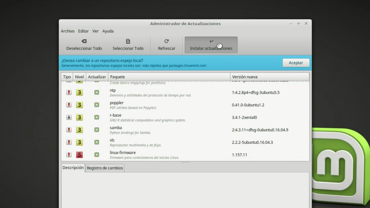 Administrador de Actualizaciones Linux Mint - YouTube