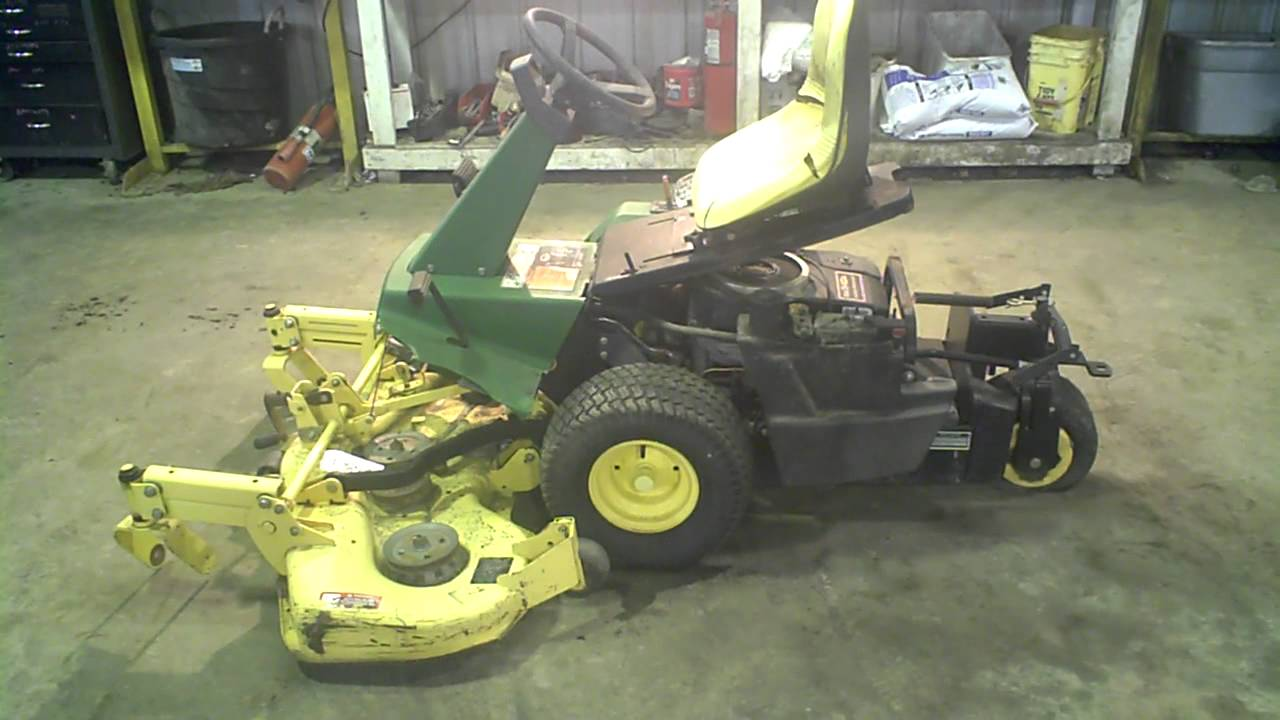 lot 1784a john deere f525 w  48 u0026quot  deck tear down