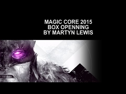 Magic Core 2015 box openning by Martyn Lewis Midco Games