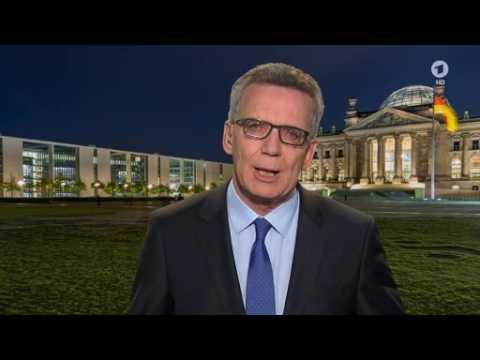Bundesinnenminister de Maizière in den tagesthemen zum Sicherheitspaket für Deutschland