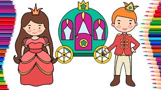 How to Draw a Prince and a Princess Coloring Pages for Children