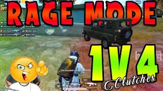 LoLzZz RAGE MODE ON | 1v4 INSANE CLUTCHES | PUBG MOBILE BEST CLUTCHES