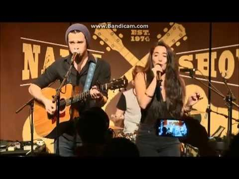 Alex & Sierra - Toxic/Thrift Shop @ Winter NAMM 2015 - Taylor Guitars