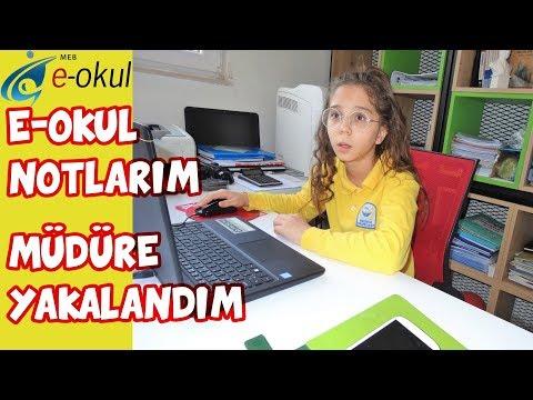 E-OKUL NOTLARIM 2019 | MÜDÜR ODASINDA BAKARKEN MÜDÜR YAKALADI - Eğlenceli Çocuk Videosu