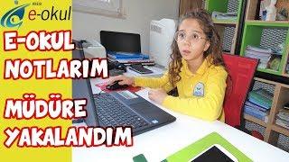 E-OKUL NOTLARIM 2019   MÜDÜR ODASINDA BAKARKEN MÜDÜR YAKALADI - Eğlenceli Çocuk Videosu