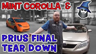 CAR WIZARD inspects mint 09 Corolla & Finishes Hoovies Prius Engine Tear Down