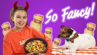 So Fancy | Halloween Trail Mix and Spooky Mummy Dogs | Kid and Dog Friendly Recipes