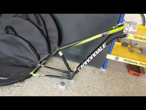 8aae5bf5284 Cannondale F-Si carbon fiber race 29 frame weight - YouTube