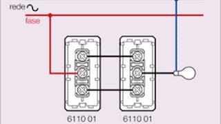 como ligar interruptor paralelo ( ligação de lampada com interruptores em paralelo )