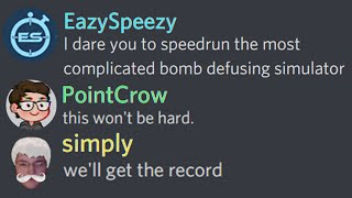 I was dared to speedrun disarming explosives and it was incredible