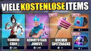 *NEW* So MANY Free Items 🎁 New Skins, Leaks and Emotes | Fortnite Birthday German