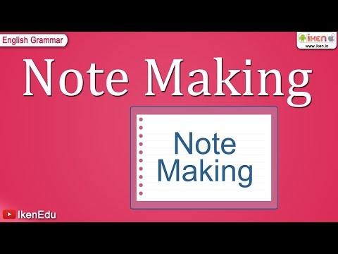 Note Making - YouTube