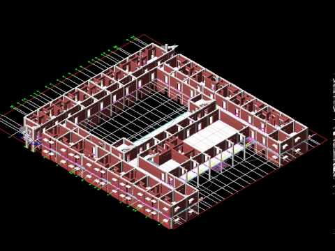 Building Quantity Estimator from 3D AutoCAD Huge College  Building