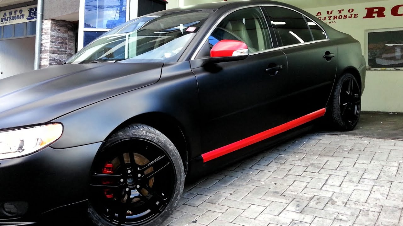 Volvo S80 Red & Black Matte Auto Ngjyrosje RG - YouTube