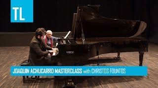 Joaquín Achúcarro Masterclass with Christos Fountos playing Ravel - Gaspard de la nuit