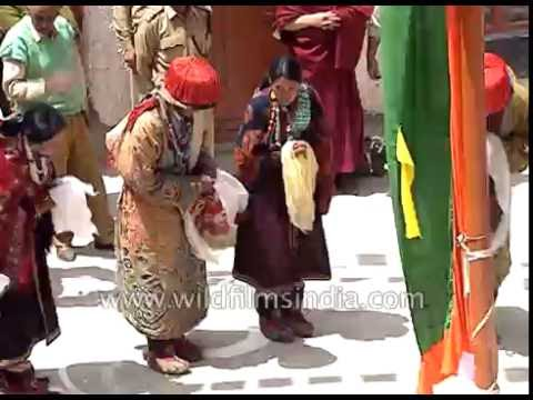 Buddhists welcome His Holiness Dalai Lama at Kalachakra in Spiti, Himachal