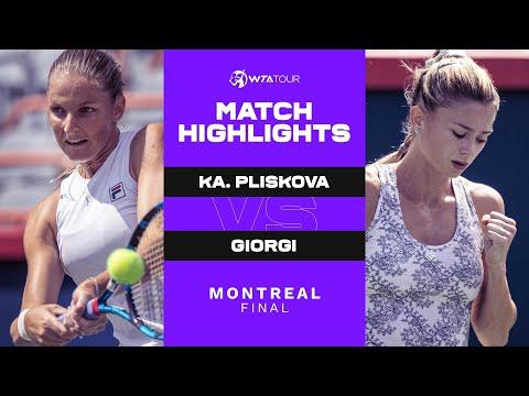 Karolina Pliskova vs. Camila Giorgi | 2021 Montreal Final | WTA Match Highlights