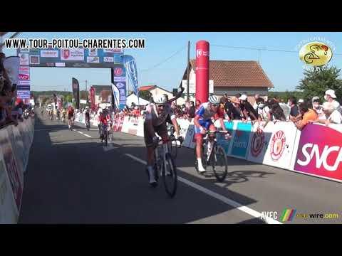Arrivée de la 2e étape du Tour Poitou-Charentes en Nouvelle Aquitaine 2021 à Ruffec