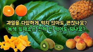 과일을 다양하게 먹지 않아도 괜찮나요? 녹색 잎채소는 …