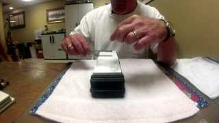 Straight Razor Honing-Bevel Setting on Shapton Glass 1K Stone