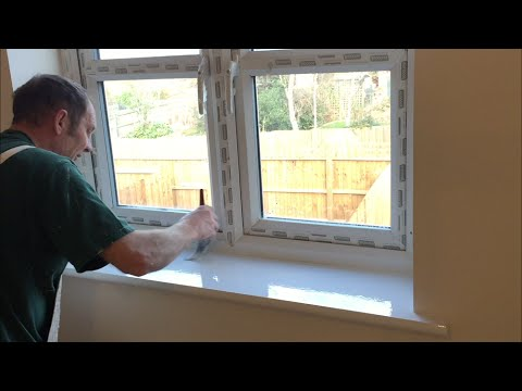 Painting & Decorating, How to Undercoat & Gloss a window cill  In a new plot