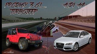 Jeep Wrangler Turbo vs Audi A4 Race   Prodigy Performance