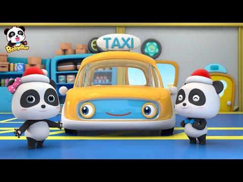 Drive Taxi to Pick up Santa Claus | Baby Panda Taxi Driver | Christmas Song | BabyBus
