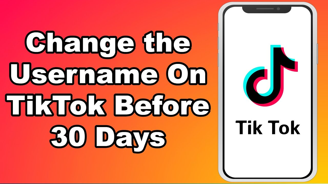 How To Change The Username On Tiktok Before 30 Days Youtube